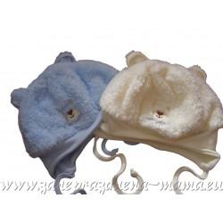 Čiapka Macík, bledo modrá a smotanová