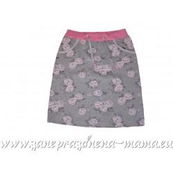 Sukňa, ružové kvety