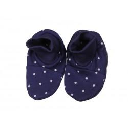 Kojenecké papučky – modré bodky