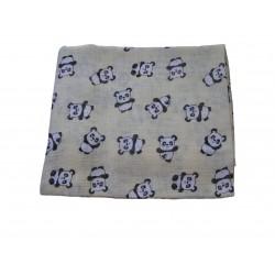 Bavlnená plienka s potlačou, smotanové pandy