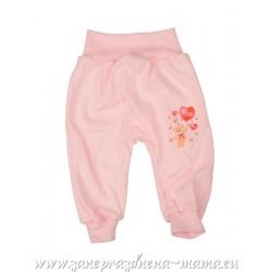Bavlnené tepláky, ružový macko