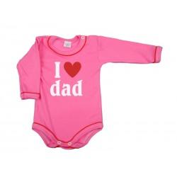 Body I love dad, malinové
