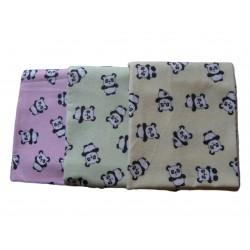 Flanelová plienka celopotlačená, ružová panda