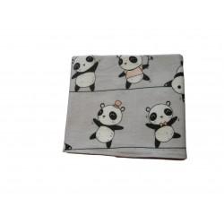 Flanelová plienka, sivé pandy