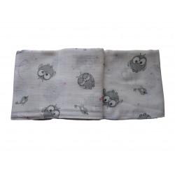 Bavlnená plienka s potlačou, malé sovičky