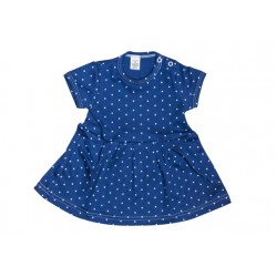 Letné šaty modrá bodka