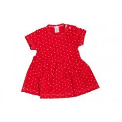 Letné šaty červená bodka