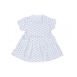 Letné šaty biela bodka