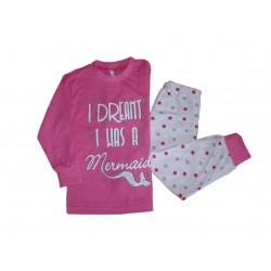 Ružové dievčenské pyžamo