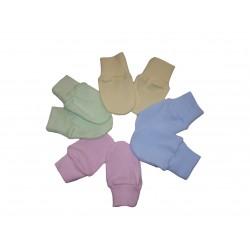 Kojenecké rukavičky, farebné
