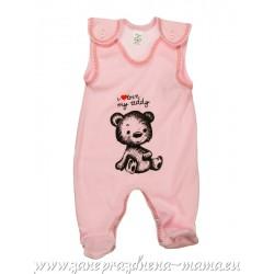 Dupačky - I love teddy, ružové
