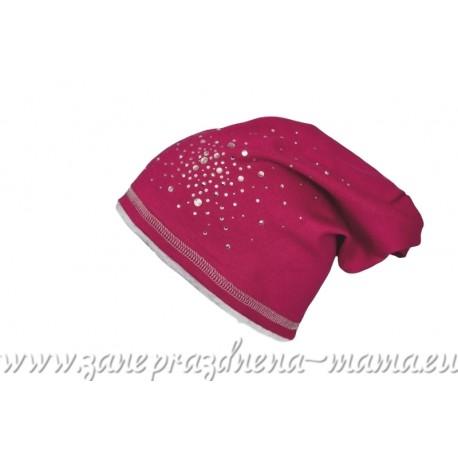 Dievčenská prechodná čiapka s trblietkami