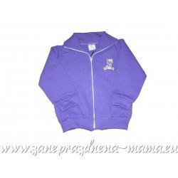 Bundička na zips Macko, fialová