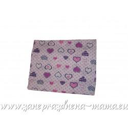 Bavlnená plienka s potlačou srdiečok