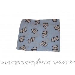 Bavlnená plienka s potlačou, modré pandy