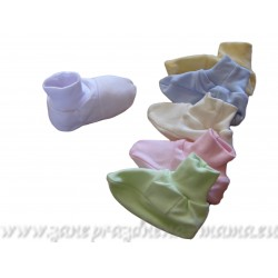 Bavlnené papučky, jednofarebné
