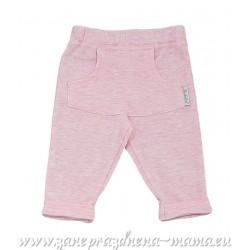 Nohavice melírované, ružové