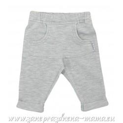 Nohavice melírované, sivé
